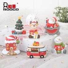 原创麋鹿圣诞树圣诞老人雪人圣诞节装饰摆件圣诞快乐摆件圣诞礼品