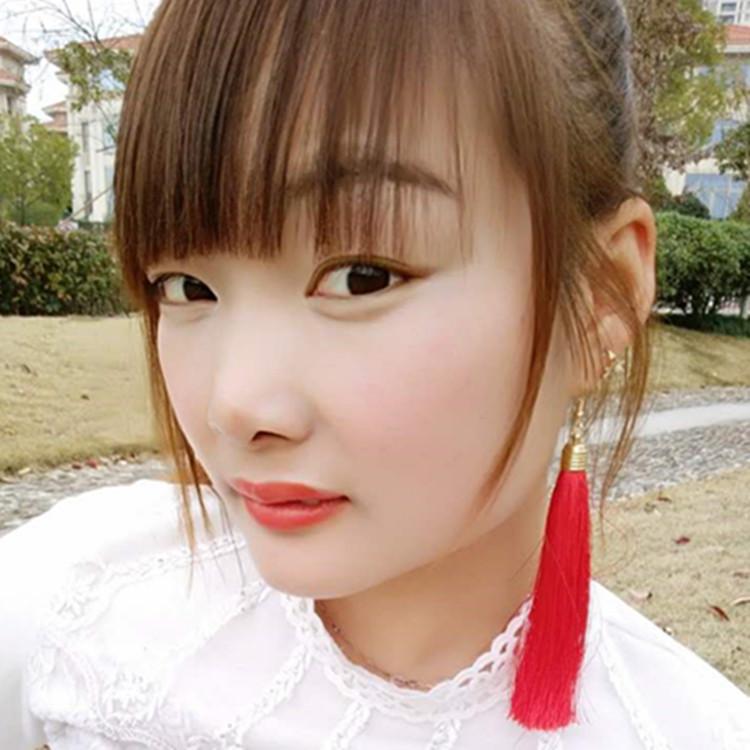 【天天特价】民族风长款流苏耳环拉丁舞耳环耳钉无耳洞耳夹耳饰女
