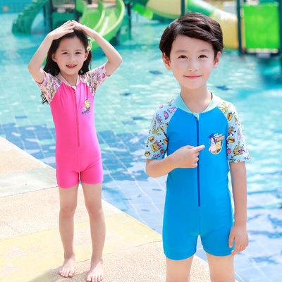 佑游新款儿童泳衣男女童宝宝婴儿游泳衣中大童游泳裤连体泳装