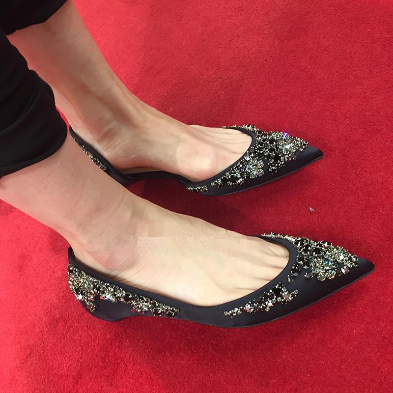 欧美真皮低跟鞋