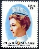 黄热病试验志愿者护士克拉拉·马斯诞辰100周年 1全 美国1976邮票