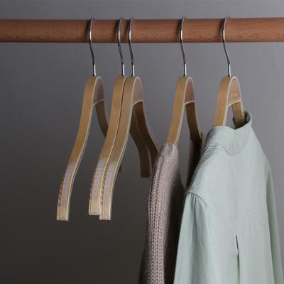 实木女士衬衫衣架防滑夹板木衣架现代简约服装店架子竹木衣架批发