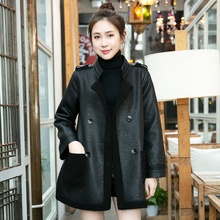 Lamb Fur Outer Suit for Mid-long Female Style 2019 New Style Two Sides Dressed in Slim Korean Version Loose Leather Garment
