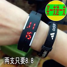 电子表男女LED手表 触控夜光男女韩国时尚潮流学生韩版手环儿童表