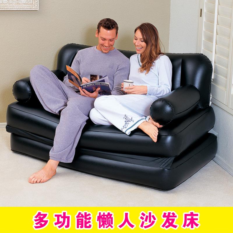 充气沙发椅懒人空气充气小沙发床双人创意阳台成人折叠气垫躺椅子