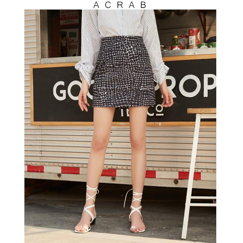 2019 S/S Acrab 动物纹包臀显瘦半身裙