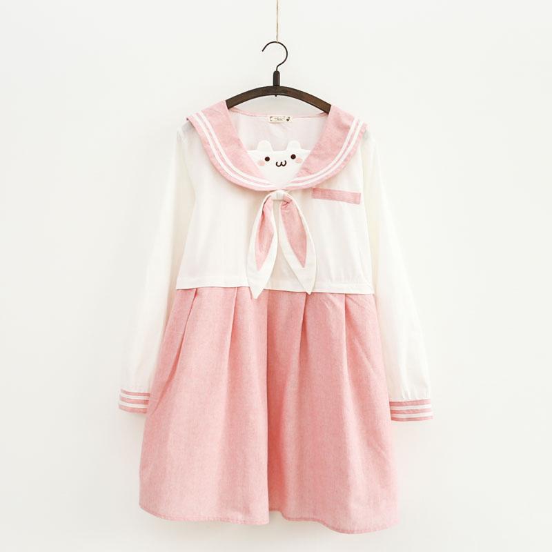 小熊连衣裙长袖