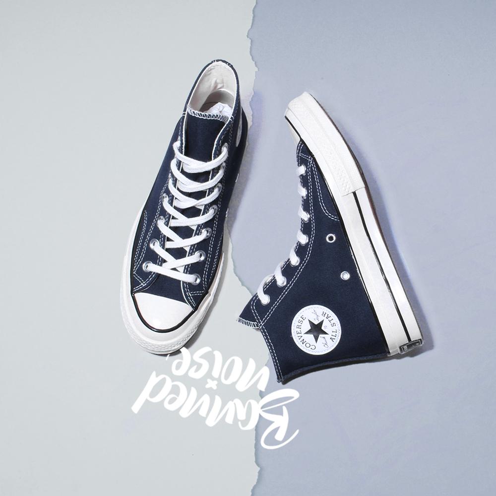 Converse/匡威 1970S 三星标午夜蓝深蓝高低帮男女帆布鞋 164945C