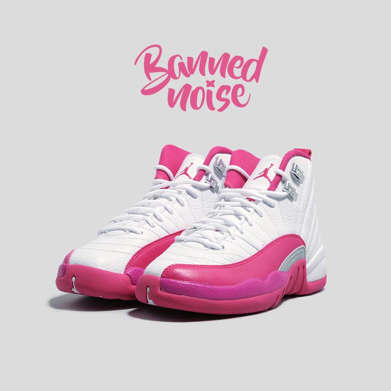 Air Jordan 12 GS AJ12 白粉 乔12 情人节 女子篮球鞋 510815-109