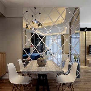 镜子贴墙自粘亚克力3D立体墙贴镜面 创意大厅客厅电视背景墙装饰