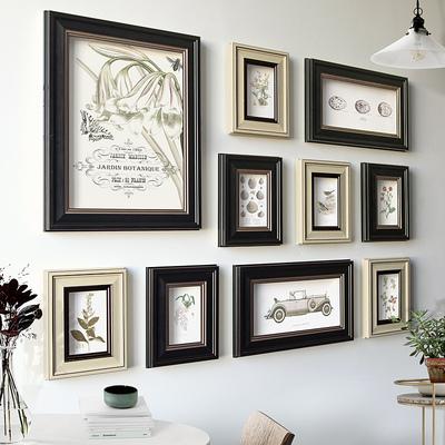 添色彩绘简约美式乡村新古典相框墙客厅餐厅卧室挂墙小清新照片墙