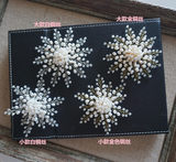 One meter handmade twisted beads Natural freshwater pearls Crystal Fireworks models Brooch pin brooch
