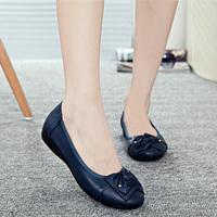 豆女鞋平跟软女单鞋