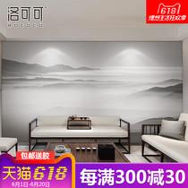 水促销无缝墙布客厅沙发电视墙壁画背景墙壁纸立体墙纸3d中式