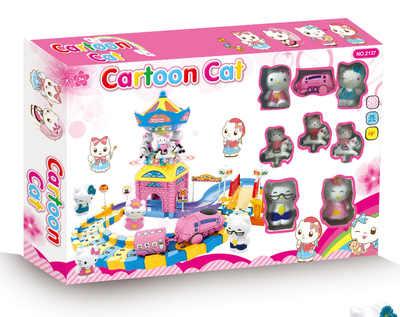 凯蒂猫KT粉红猪佩奇旋转木马轨道车灯光音乐城堡游乐园过家家菲律宾ag集团|首页