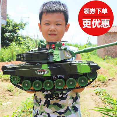 超大号坦克玩具车遥控亲子对战发射充电动越野履带式儿童男孩汽车