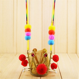 Halloween Sun Wukong Crown Purple Gold Crown Crown-shaped-shaped hat Qi Tianda Holy Head Crown Monkey King Hat Crown
