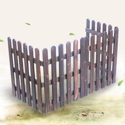 篱笆下白色篱笆木栅栏 花园木围栏护栏婚庆装饰 圣诞装饰实木栅栏