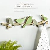 饰挂钩壁挂钥匙架 ins北欧创意小鸟挂衣钩门口玄关试衣间墙上装