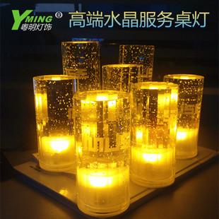 LED充电酒吧台灯个性水晶led桌灯浪漫卧室床头灯创意餐厅吧台灯