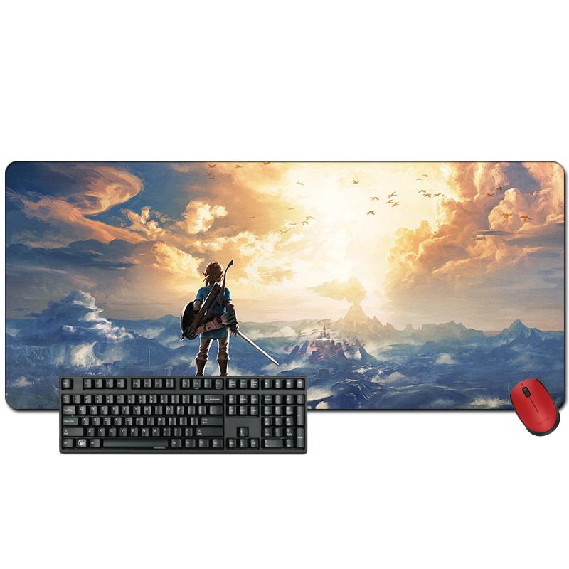 超大加厚游戏锁边鼠标垫塞尔达传说荒野之息电脑笔记本垫动漫周边