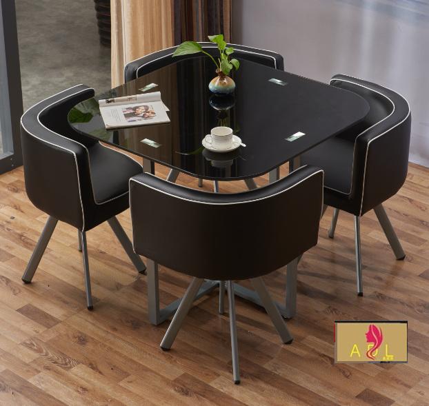 玻璃餐桌一桌四椅