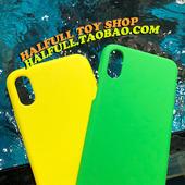 时兴荧光色 黄绿 halfull 苹果iphone手机壳