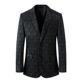 2018黑色常规长袖春秋新款中年商务休闲上衣薄款韩版帅气西装外套