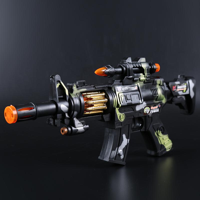儿童电动玩具枪声光音乐震动宝宝男孩小孩生日礼品冲锋抢2-16岁