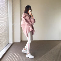 Net red two-piece suit female temperament Spring loose sweater student Korean fashion casual sportswear tide girlfriends