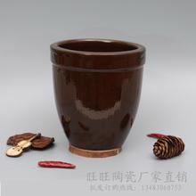 复古大水杯创意陶瓷小水缸土陶餐具调料罐盛饭菜特色小摆饰摆件