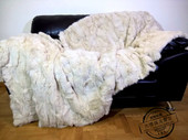 饰毯子 米色兔子盖毯子沙发午休毯装 代购 皮草毯子被子保暖盖被图片