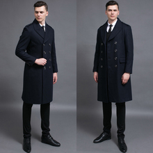 Anti-season warehouse sweater men's new large-size long wool jacket in autumn and winter of 2019 double-breasted 972