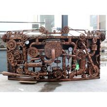 复古餐厅服装 饰品摆件酒吧台接待收银DJ台 店工业风铁艺机械齿轮装
