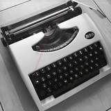 Gift English typewriter old machine women's window display props antique creative can use the exhibition
