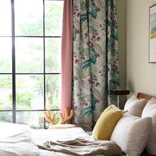 法式花园风 高密提花遮光窗帘定制客厅卧室书房飘窗 Illora伊略拉