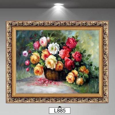 花开富贵玄关装饰画 欧式油画 美式餐厅挂画简欧客厅墙画壁画花卉哪款好