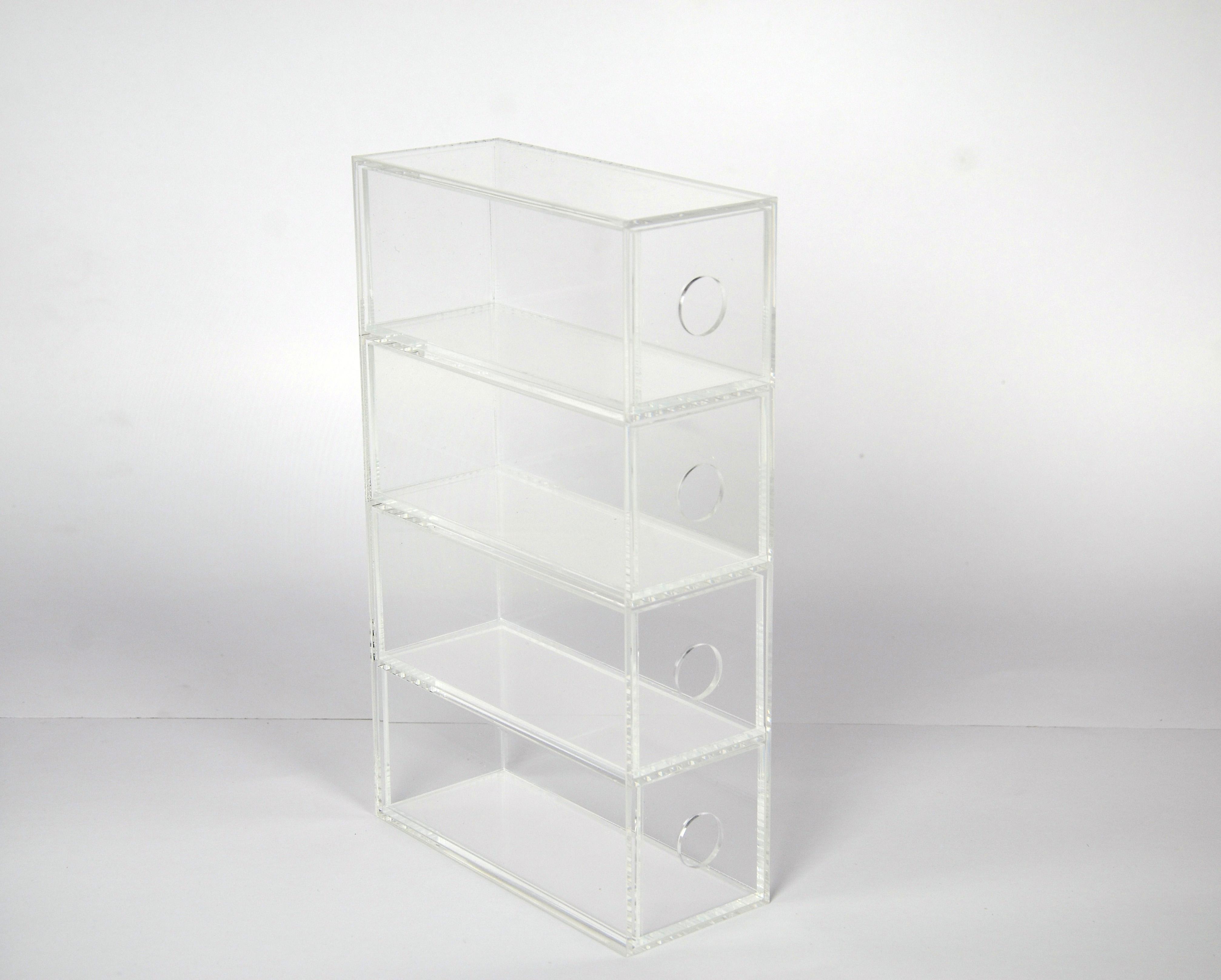 透明亚克力眼镜收纳盒桌面小物件收纳箱有机玻璃小零件抽屉式包邮