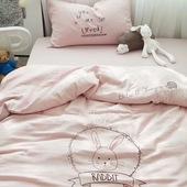 18ins澳洲双层纱布儿童三件套婴儿宝宝床品三件套纯棉1/1.2m4色
