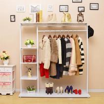卧室衣帽架落地挂衣架金属家用多功能移动简约现代经济型衣服架子
