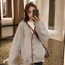 韩版 外套慵懒风针织衫 宽松早春开衫 女洋气网红毛衣很仙 2019新款