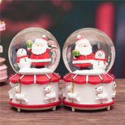 Snowflake crystal ball music box music box Santa Claus creative Christmas gifts for boys and girls to send girlfriends children