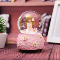 Glowing Snowflake Crystal Ball Music Box Rotating Music Box Children's Day Send Boys and Girls girlfriends Princess Birthday Gift