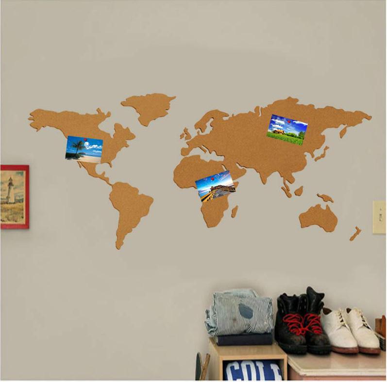 软木板地图