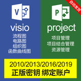 Visio2016/2019/13/10/Project Professional drawing chart project management activation code key