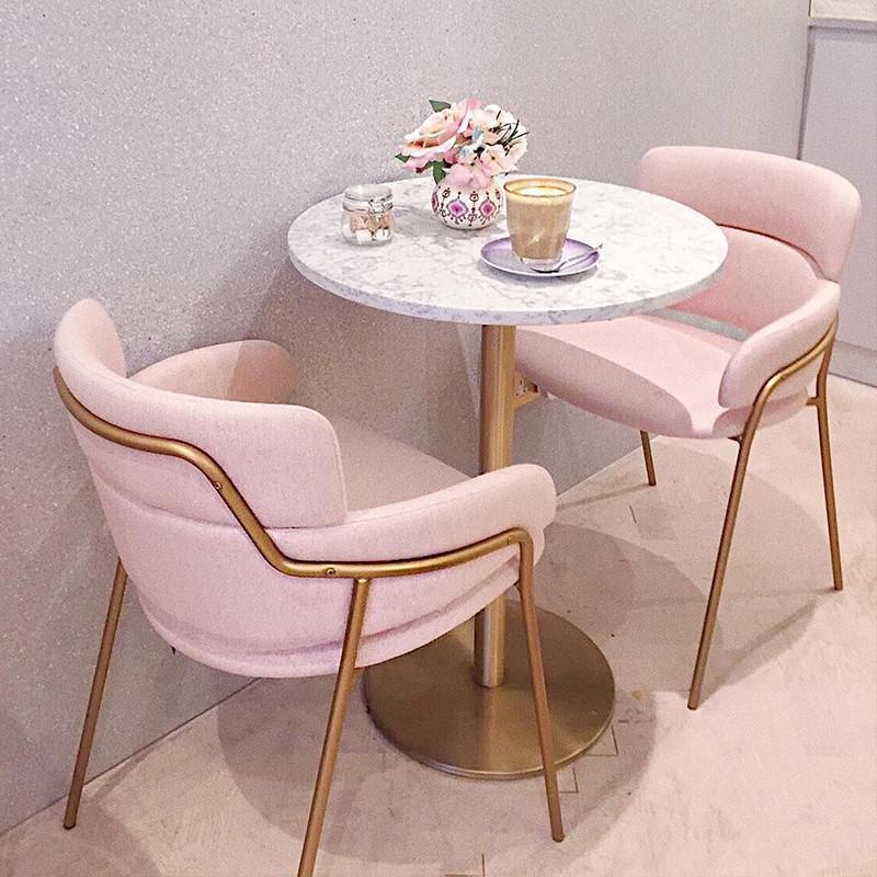 阳台小桌椅网红奶茶店餐厅休闲桌椅组合北欧洽谈接待桌椅简约现代