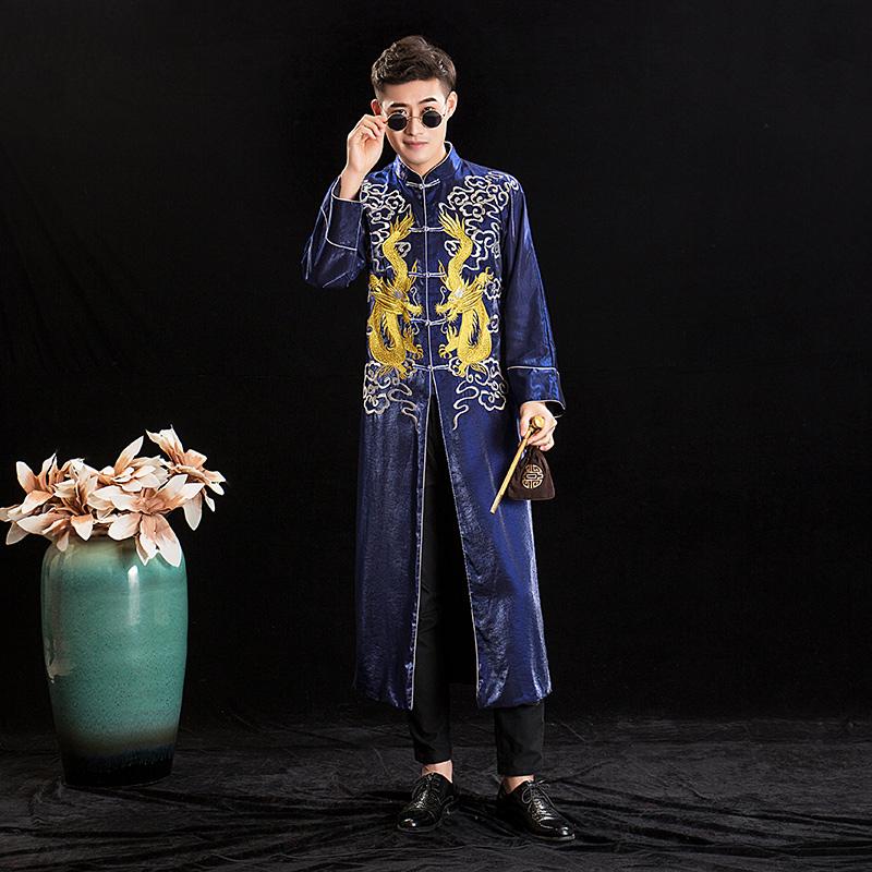 秀禾服新郎2019新款中式古装男士结婚情侣礼服长衫唐装龙凤褂男款