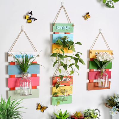 墙面装饰挂件水培花瓶创意卧室墙壁绿植物玻璃容器客厅餐厅挂饰品