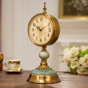 European clock retro clock clock living room large American desktop pendulum clock desktop clock creative table clock sitting clock ornaments