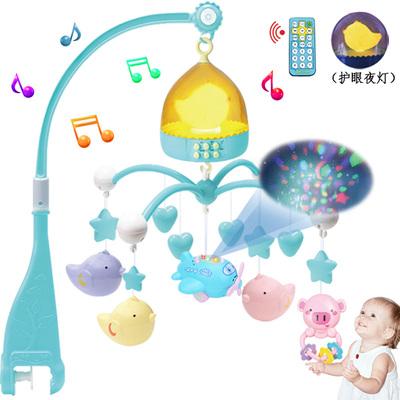 旋转0-1岁床铃音乐新生婴儿床头掉铃摇铃挂件宝宝3-6-12个月玩具官方旗舰店